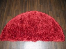 HALF MOON SHAGGYS RUGS 60CMX120CM WOVEN GOOD QUALITY NEW SUPER THICK PILE RED